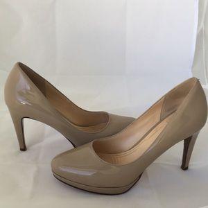 Cole Han Nike Air Nude Patent Heels.